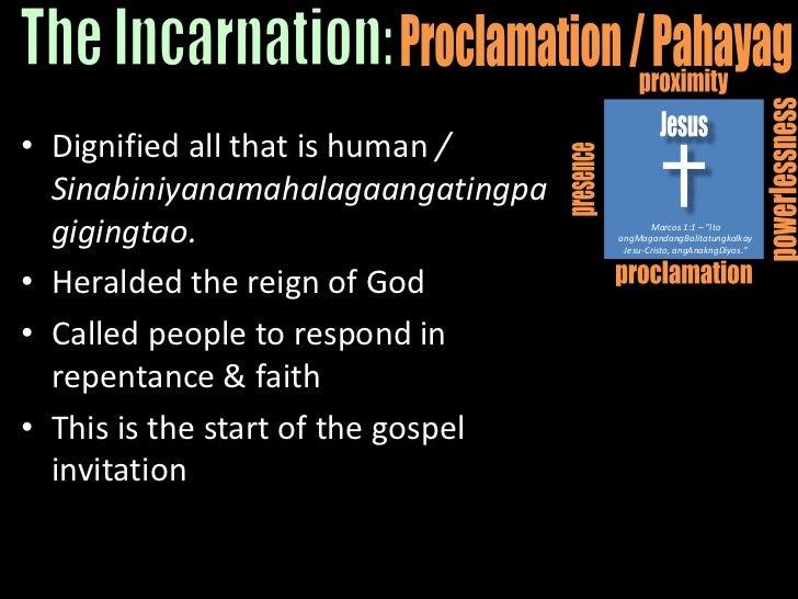 "proximity<br />Jesus<br />powerlessness<br />presence<br />Marcos 1:1 – ""Ito angMagandangBalitatungkolkayJesu-Cristo, angA..."
