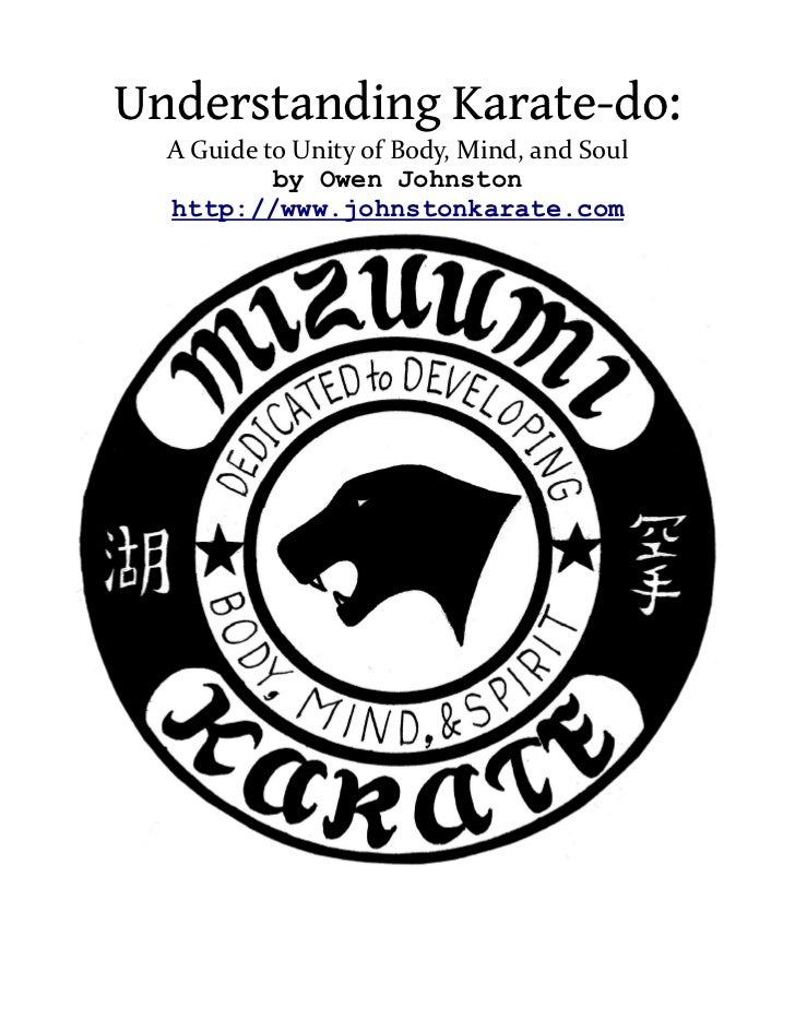 Understanding Karate-do:  A Guide to Unity of Body, Mind, and Soul           by Owen Johnston  http://www.johnstonkarate.com