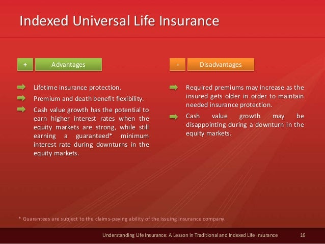 Indexed Universal Life Insurance 16 Understanding Life Insurance: A Lesson in Traditional and Indexed Life Insurance Advan...