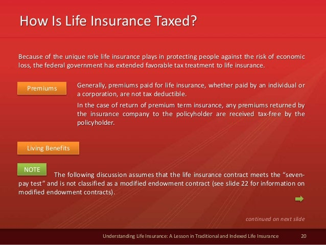 How Is Life Insurance Taxed? 20 Understanding Life Insurance: A Lesson in Traditional and Indexed Life Insurance Premiums ...