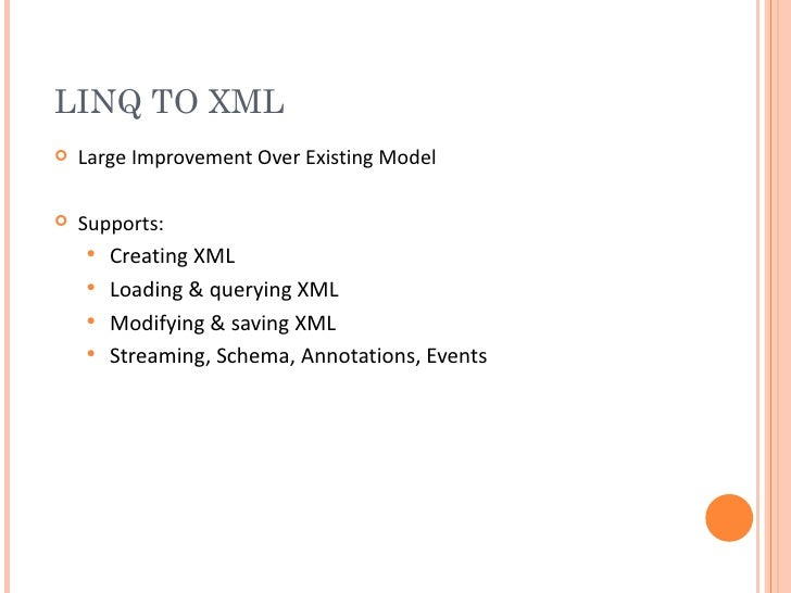 An Extensive Examination of LINQ: Introducing LINQ to XML