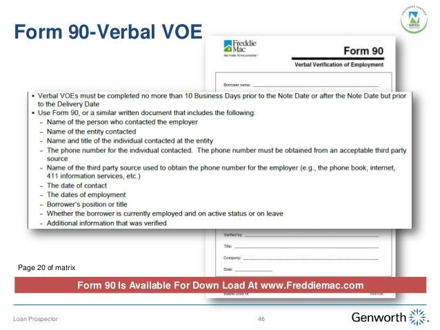 Fannie Mae Verbal Verification Of Employment Form. Best Photos Of Proof ...