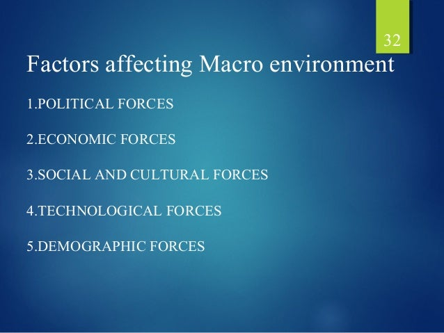 surrounding macro environment factors affect the organisation s business activities Identify and explain macro and micro envoirmental factors which influence makreting macro environmental factors recent laws that affect an organisation's.
