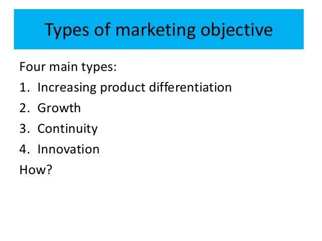 main objective of marketing