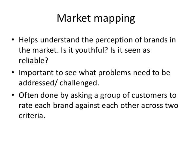 Market Mapping Exercise High PriceLow Price Modern Traditional