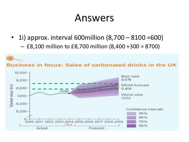 Answers • 1ii) approx. interval £2,344 million (£9,476million - £7,232million)