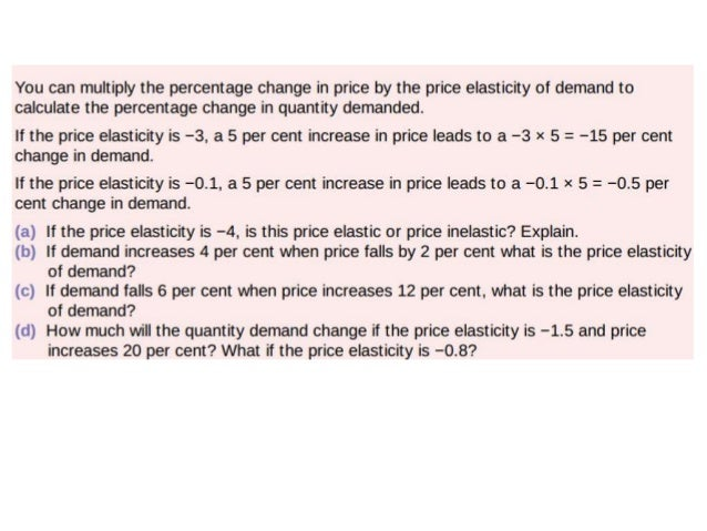 Income elasticity of demand • If the answer is positive this means an increase in income increases demand. – +ve = +demand...