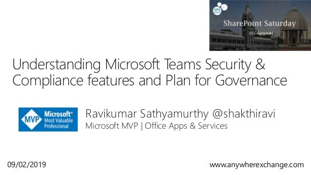 Understanding Microsoft Teams Security & Compliance features and plan…