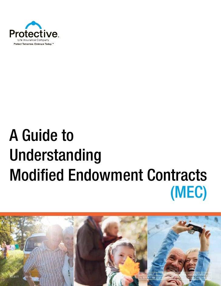 A Guide toUnderstandingModified Endowment Contracts                      (MEC)PLC.6177   (02.12)