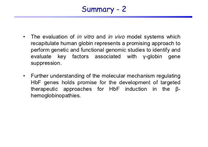 Understanding molecular mechanisms leading to reactivation derepression of gamma-globin gene