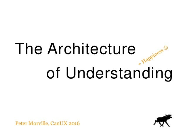The Architecture of Understanding Peter Morville, CanUX 2016