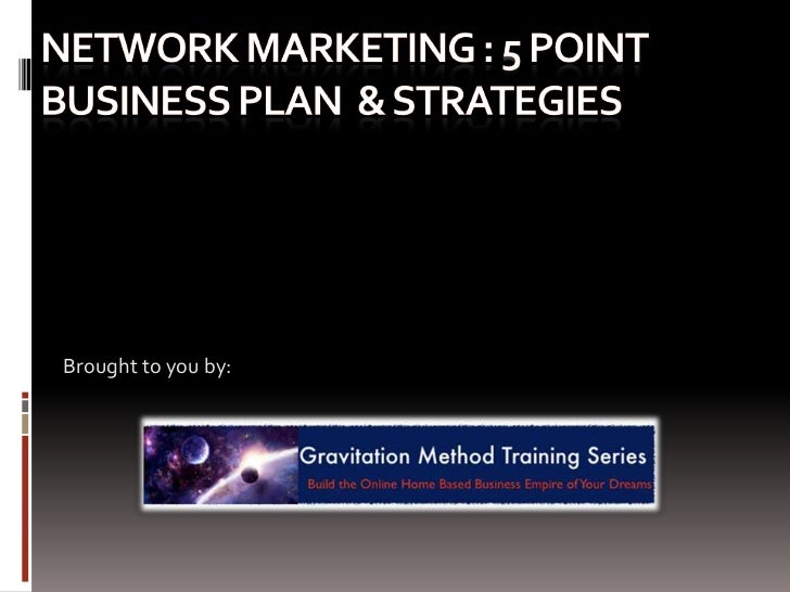 A Sample Multi Level Marketing Business Plan Template