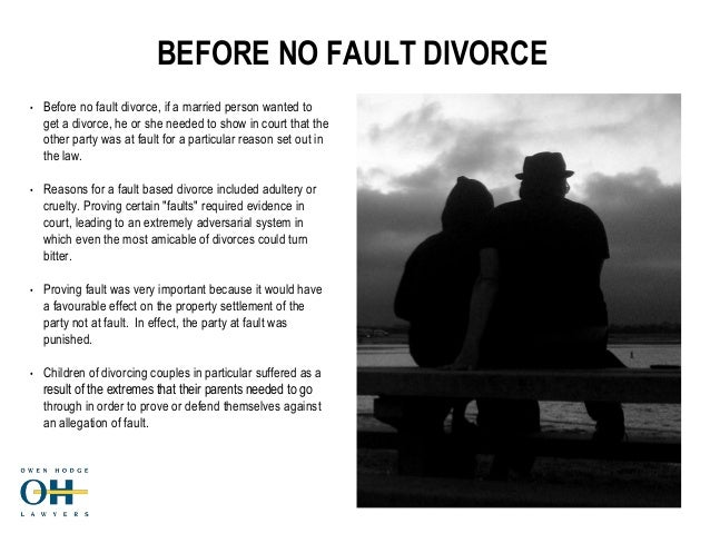 Divorce In And Australia Settlement Adultery most