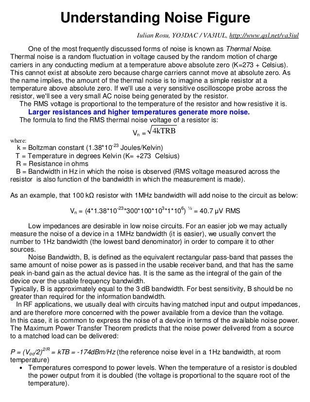 Understanding Noise Figure                                          Iulian Rosu, YO3DAC / VA3IUL, http://www.qsl.net/va3iu...