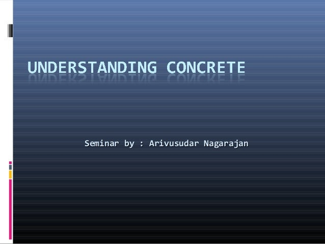 Seminar by : Arivusudar NagarajanSeminar by : Arivusudar Nagarajan
