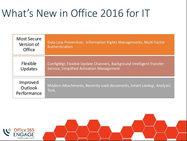 O365engage17 understanding office 2016 pro plus - Rights management services office 365 ...