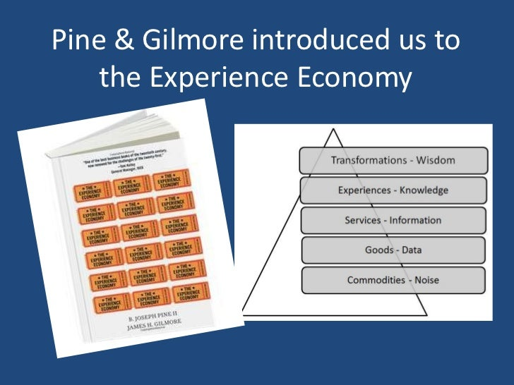 Pine & Gilmore introduced us to    the Experience Economy