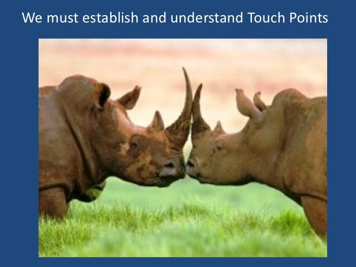 We must establish and understand Touch Points