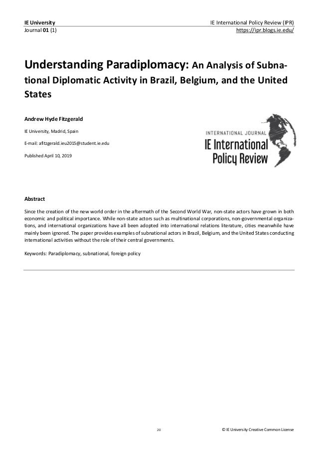 IE University IE International Policy Review (IPR) Journal 01 (1) https://ipr.blogs.ie.edu/ 20 © IE University Creative Co...
