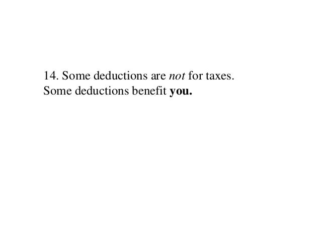 form for working out your tax deductions