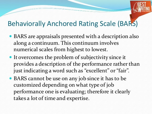 problems with using just a graphic rating scale when evaluating employees As a substitute for the boss's annual evaluation of his or her subordinates, these   me to conclude that implementation problems in performance evaluation are  better solved  the appraisal procedure as their formal evaluation of employee  actions over a  thus the use of restricted scales reduces the likelihood of  superiors.