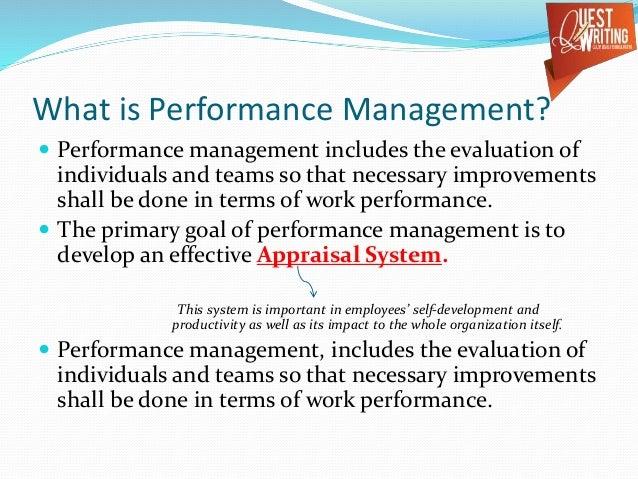 Understanding performance management
