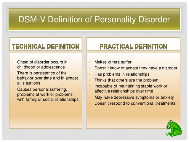 Non confrontational personality disorder
