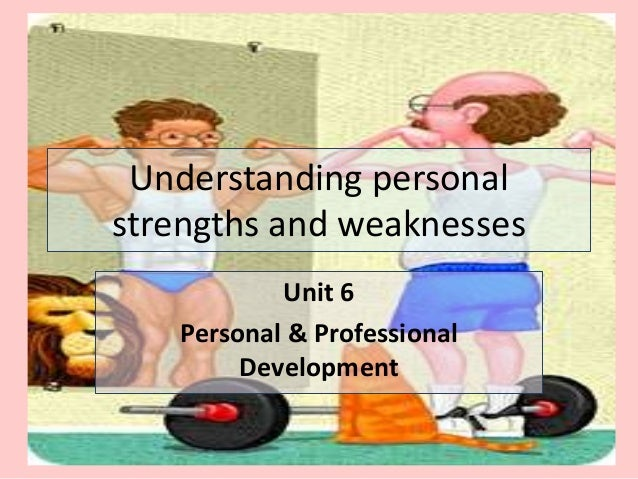 SWOT) Understanding personal strengths and weaknesses