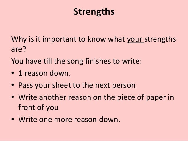 what are your personal strengths