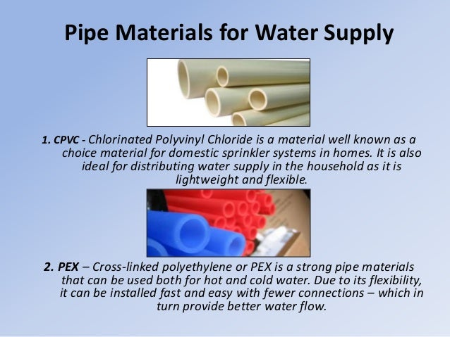 Understanding pipe materials for your plumbing project for Is pex better than cpvc