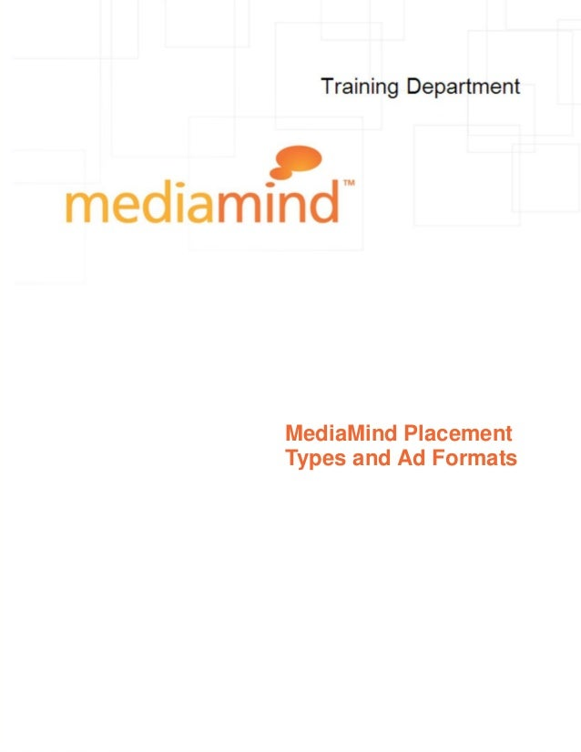 MediaMind PlacementTypes and Ad Formats