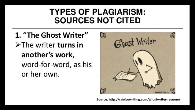 Ghost writer thesis