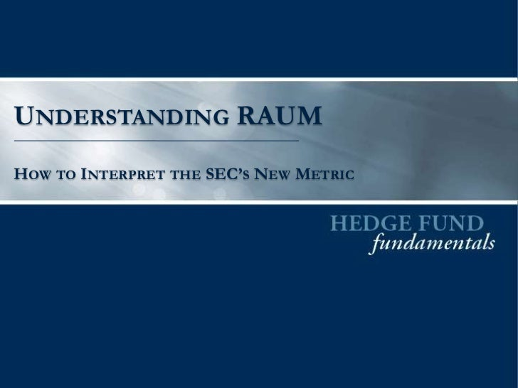 UNDERSTANDING RAUMHOW TO INTERPRET THE SEC'S NEW METRIC