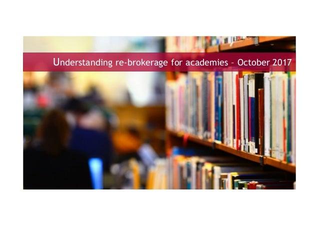 Understanding re-brokerage for academies – October 2017