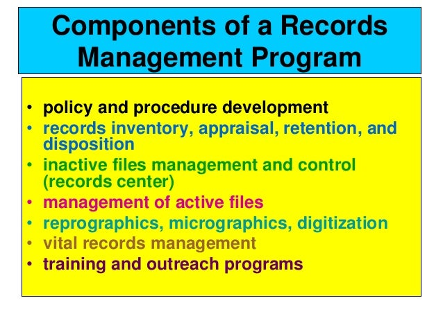importance of electronic records management pdf