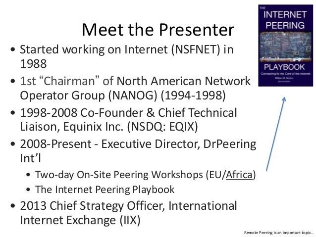 Understanding Remote Peering - Connecting to the Core of the Internet Slide 2