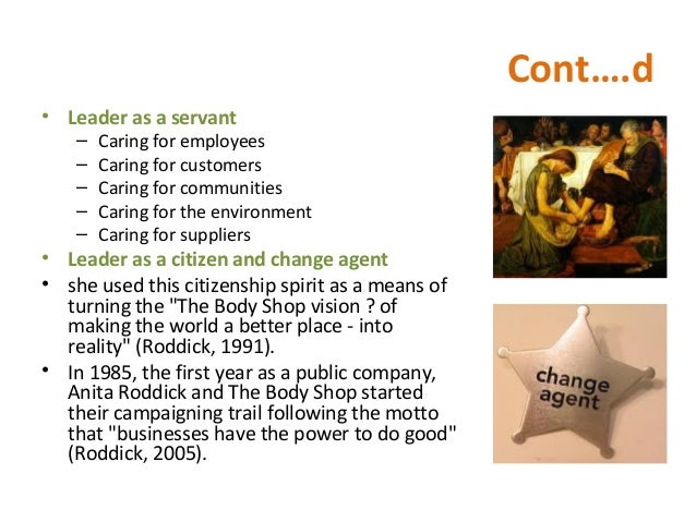Business and environment body shop 2005