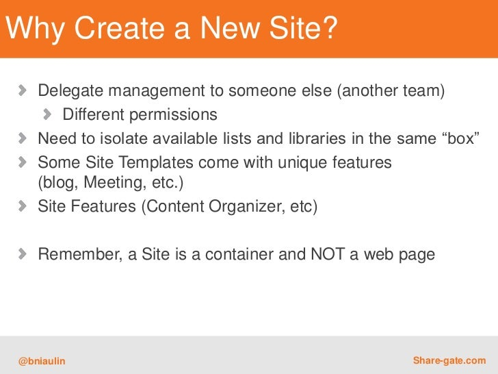 how to create a new site on sharepoint
