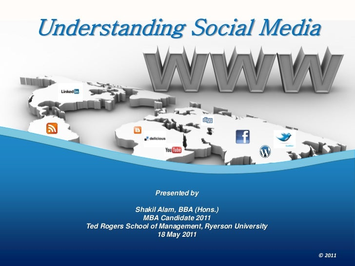 Understanding Social Media                       Presented by                 Shakil Alam, BBA (Hons.)                   M...