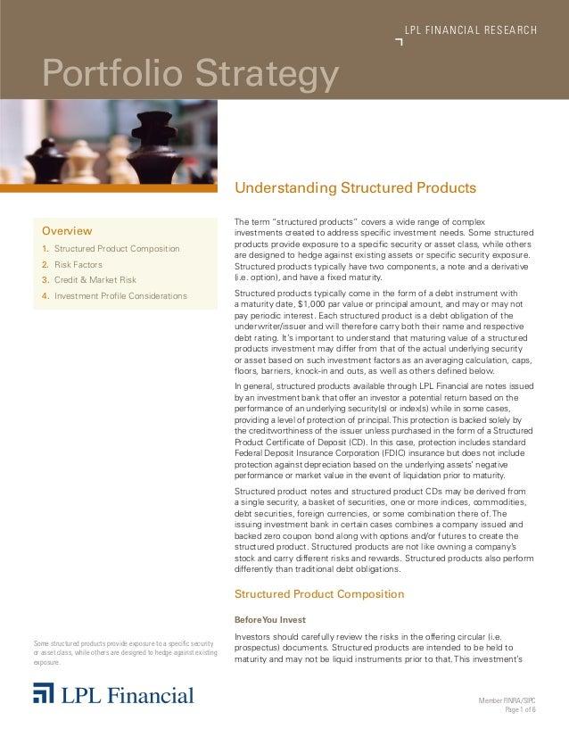 LP L FINANCIAL R E S E AR C H  Portfolio Strategy                                                                      Und...