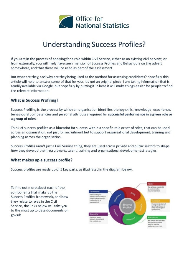 Understanding Success Profiles? If you are in the process of applying for a role within Civil Service, either as an existi...