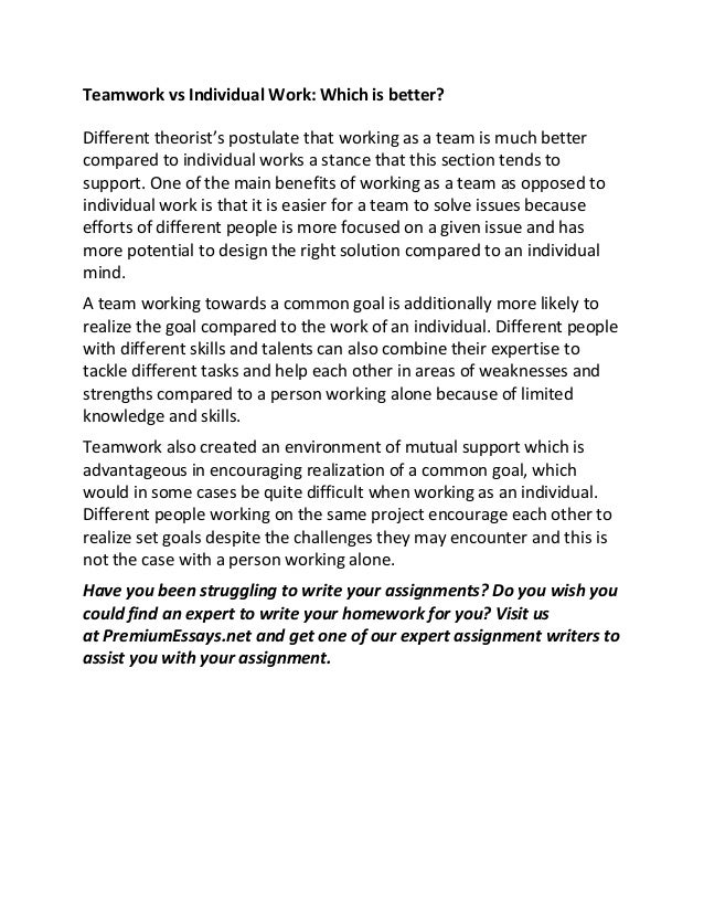 understanding teamwork sample essay teamwork