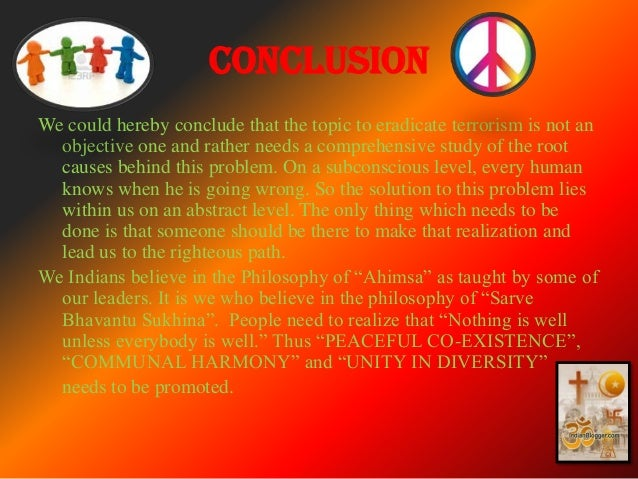 Terrorism causes and solution