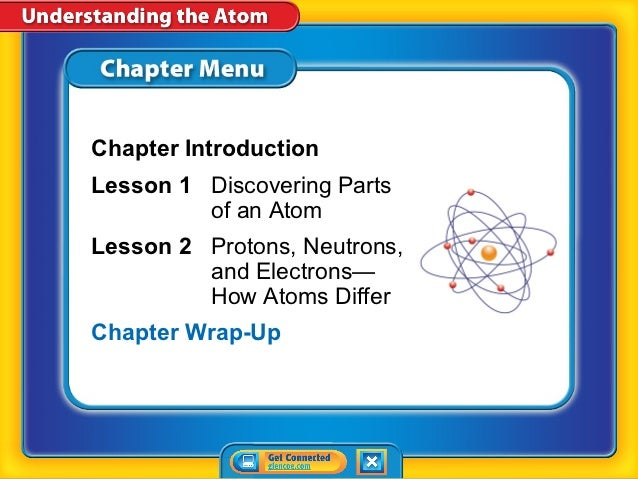 Chapter IntroductionLesson 1 Discovering Parts         of an AtomLesson 2 Protons, Neutrons,         and Electrons—       ...