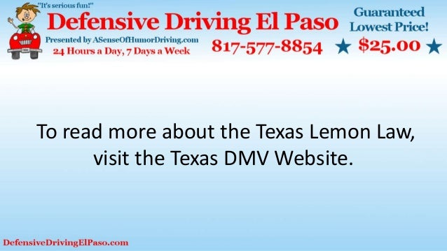Texas Lemon Law >> Understanding The Basic Facts Relating To The Lemon