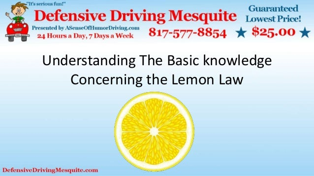 Understanding The Basic knowledge Concerning the Lemon Law