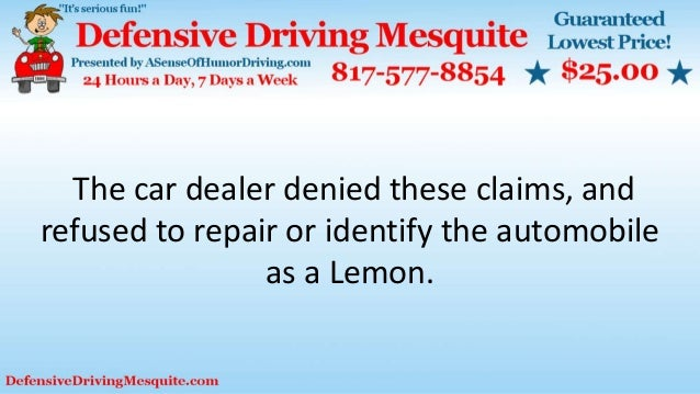 The car dealer denied these claims, and refused to repair or identify the automobile as a Lemon.