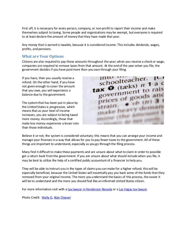 Understanding the basics of tax laws (2 15 11 alyssa) Slide 2