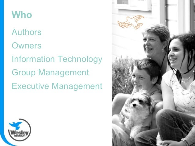Authors Owners Information Technology Group Management Executive Management Who