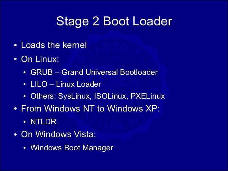 windows vista boot loader